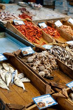Greek fishing market