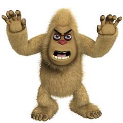 Türaufkleber Nette Monster horror brown yeti