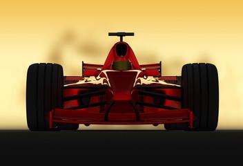 Poster Motorise formel 1 racer frontal