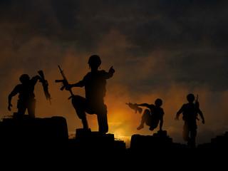 Foto op Canvas Militair Dawn offensive