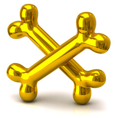 Two golden bones