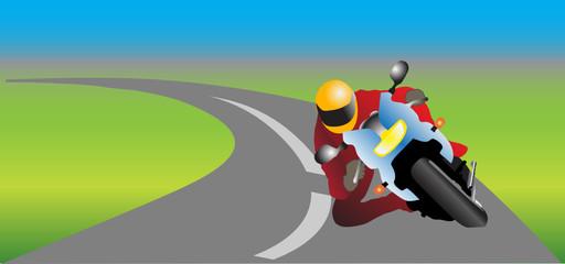 Keuken foto achterwand Motorfiets motorcycle driver
