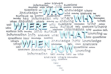 Thinking or speaking bubble with questions