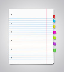 Stack of blank paper sheets with copy space
