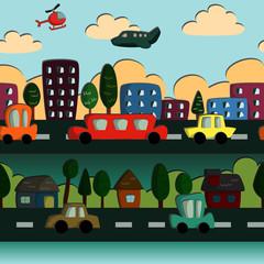 Foto op Plexiglas Op straat Town Pattern