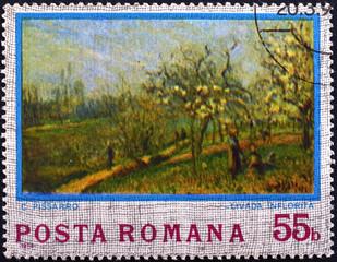 postage stamp ROMANIA - CIRCA 1974