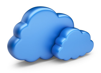 Cloud computing. 3D Icon isolated on white background