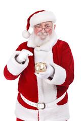 Santa punting piggy bank
