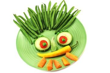 vegetarischer Teller
