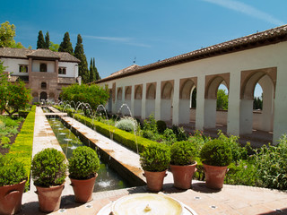 Gardens of Alhambra, Granada, Spain