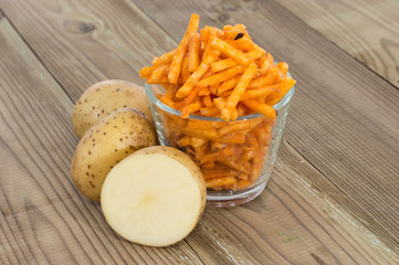 Potato Sticks with fresh Potatoes