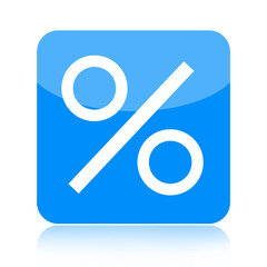 Percent icon isolated on white background