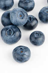 Group of fresh blueberries