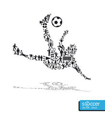icons sports vector concept soccer on white background