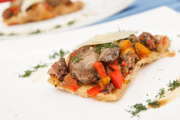 pie with meat and vegetables