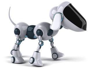 Spoed Foto op Canvas Robots Dog robot