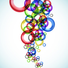 Abstract color circle background