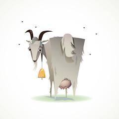 смешная коза иллюстрация