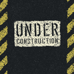 Under construction sign background. Vector, EPS8