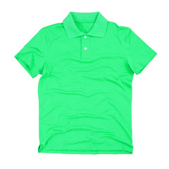 Photograph of blank polo shirt isolated. Clipping paths