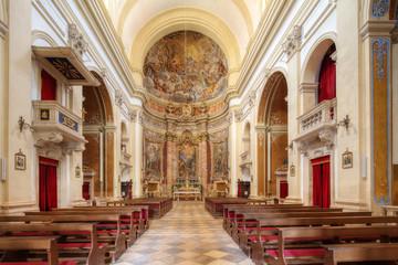 Obraz Dubrovnik wnętrze kościoła sv Ignacije - fototapety do salonu