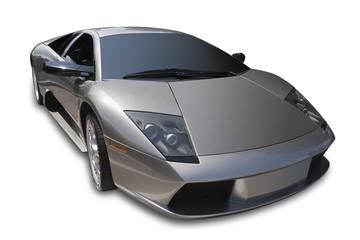 Exotic Italian sports car, isolated