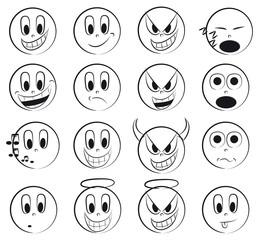 Drawed emoticon set