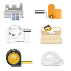 repair and building vector icon set