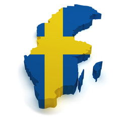 Sweden Map 3d Shape