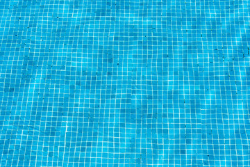 Turquoise blue swimming pool mosaic