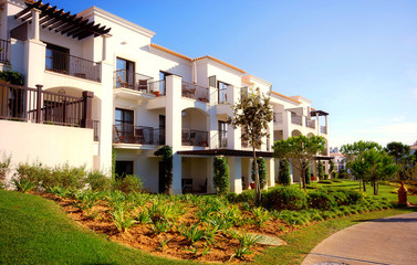 landscape with white luxury villas