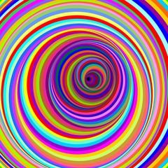 Cerchi Ipnotici-Hypnotic Psychedelic Circles-Vector