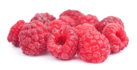 Sweet raspberry isolated