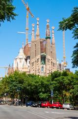 Sagrada Família's main facade. Barcelona.