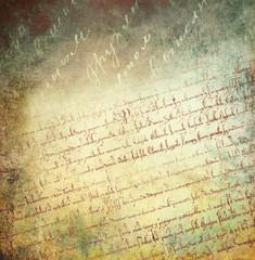 Vintage background with handwritten text