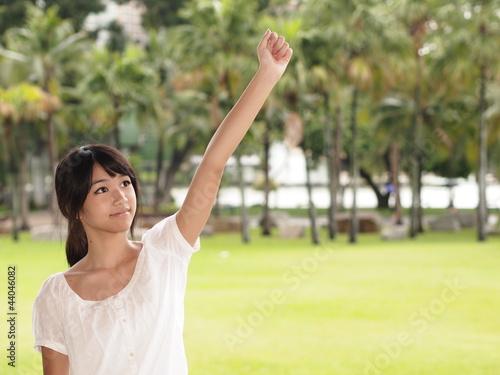 """腕を上げる女の子""""Fotolia.com ..."""