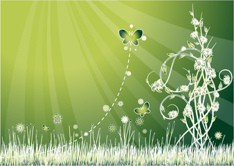 Green background on ecology theme