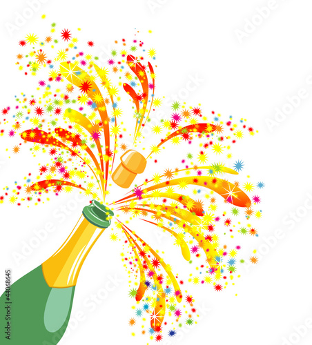 champagne celebration open champagne bottle im genes de archivo y vectores libres de derechos. Black Bedroom Furniture Sets. Home Design Ideas