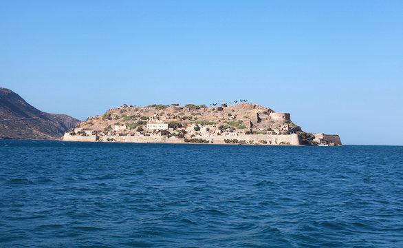 Spinalonga island, a Venetian fortress and leper colony(Crete, G