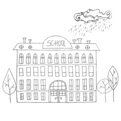 illustrated School building