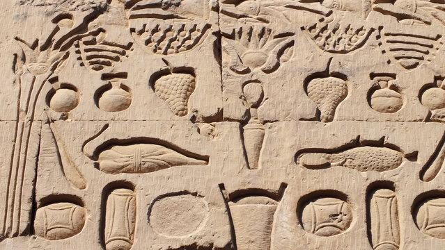 hieroglyphics at Kom Obo