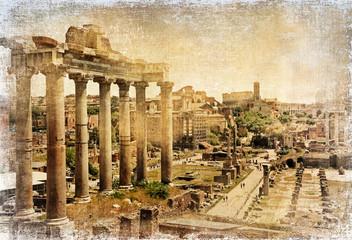 Canvas Prints Rome Roman forums - retro picture
