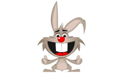 Obraz Wesoły królik - fototapety do salonu