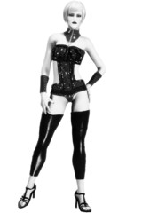 Illustration of Sexy Fashion Model