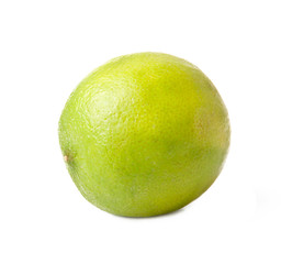 Image of green lime isolated over white background