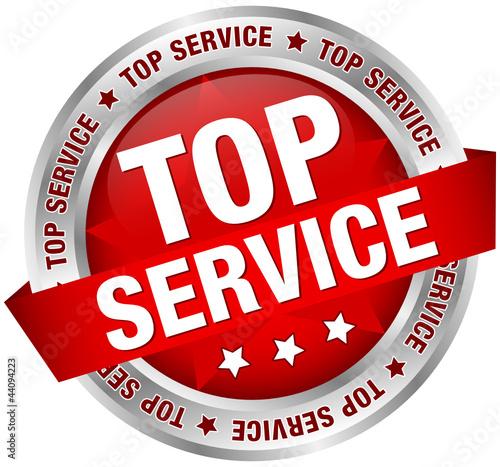 """Button Banner ""Top Service"" rot/silber"" Stockfotos und ..."