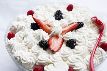 Whipped Cream with Berries