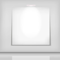 white picture background with lights