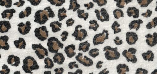 Leopard wool fabric