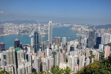 vue sur hong kong depuis le pic victoria